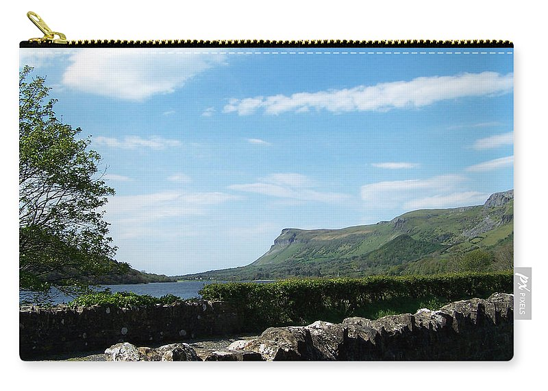 Irish Carry-all Pouch featuring the photograph Glencar Lake With View Of Benbulben Ireland by Teresa Mucha