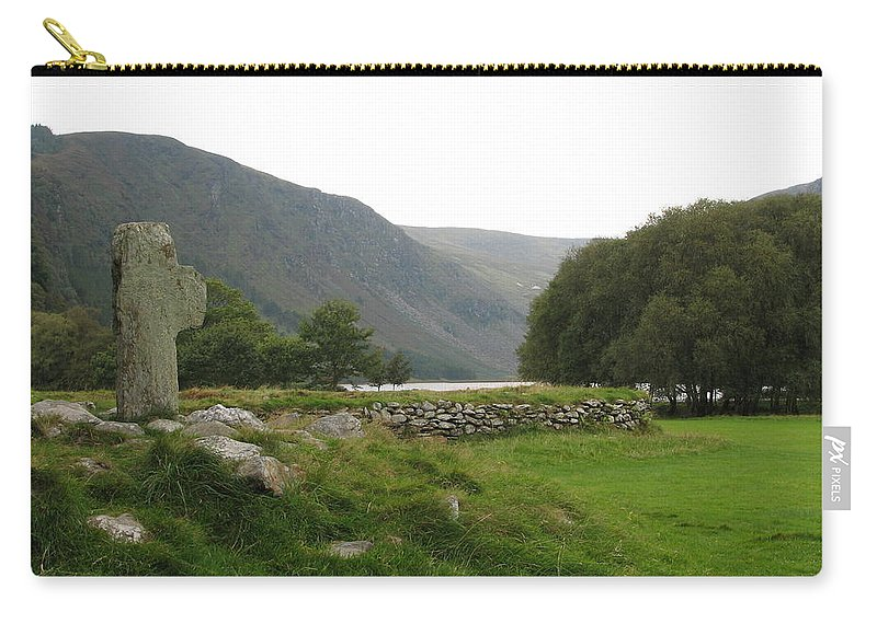 Glendalough Carry-all Pouch featuring the photograph Glendalough by Kelly Mezzapelle
