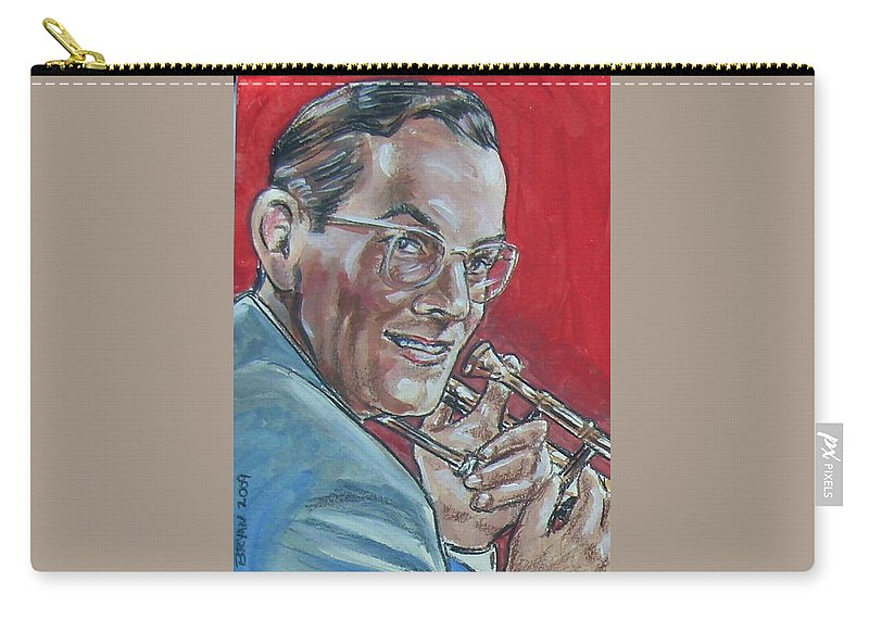 Glenn Miller Carry-all Pouch featuring the painting Glenn Miller by Bryan Bustard
