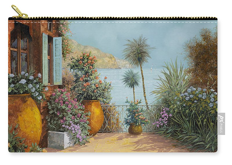 Seascape Carry-all Pouch featuring the painting Gli Otri Sul Terrazzo by Guido Borelli