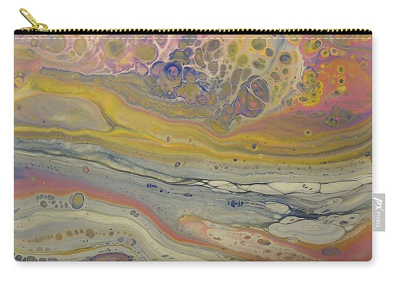 Abstract Carry-all Pouch featuring the painting Glide Across The Galaxy 2 by C Maria Wall