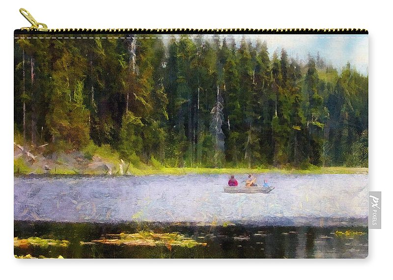 Boating Carry-all Pouch featuring the painting Gliding Along by RC DeWinter