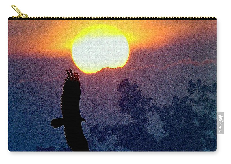 Sunset Carry-all Pouch featuring the photograph Gliding By The Sun by J R Seymour
