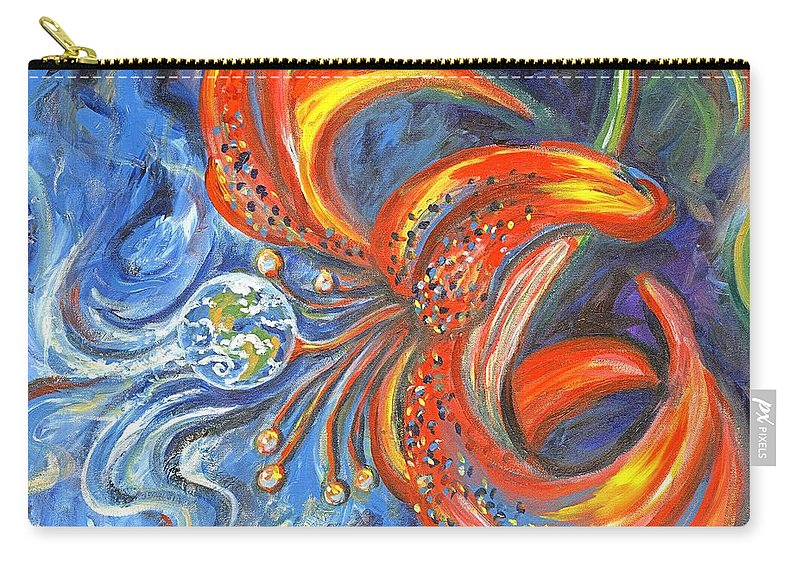 Flower Carry-all Pouch featuring the painting Global Lily by Linda Mears