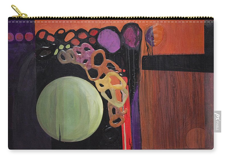 Abstract Carry-all Pouch featuring the painting Globular by Marlene Burns
