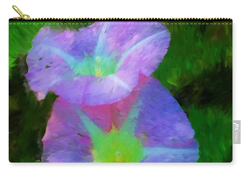 Floral Carry-all Pouch featuring the painting Gloria In The Shade by David Lane