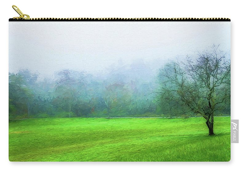 Photography Carry-all Pouch featuring the digital art Glorious Greens by Terry Davis