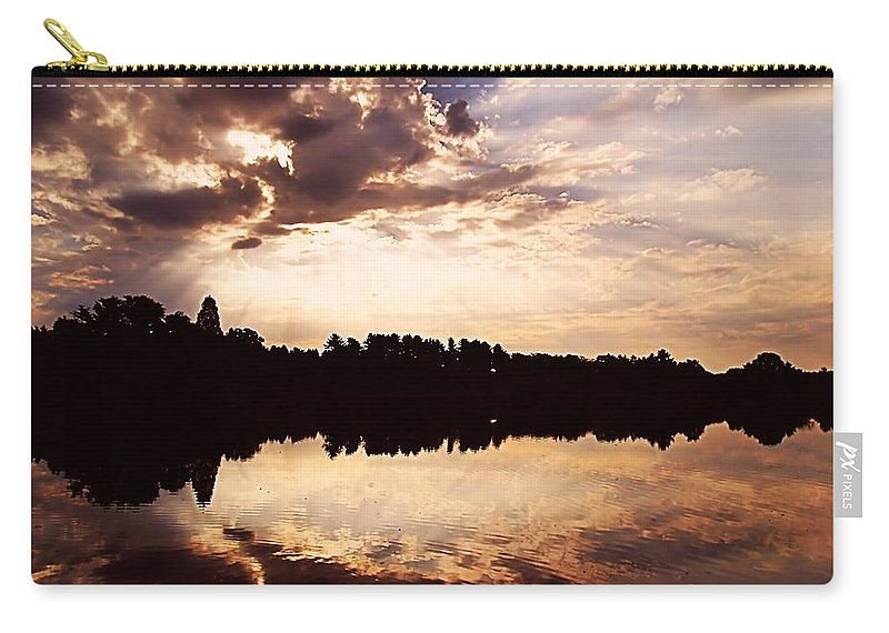 Sunrise Carry-all Pouch featuring the photograph Glorious Moments by Gaby Swanson