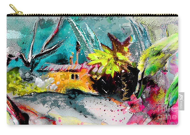 Pastel Painting Carry-all Pouch featuring the painting Glory Of Nature by Miki De Goodaboom