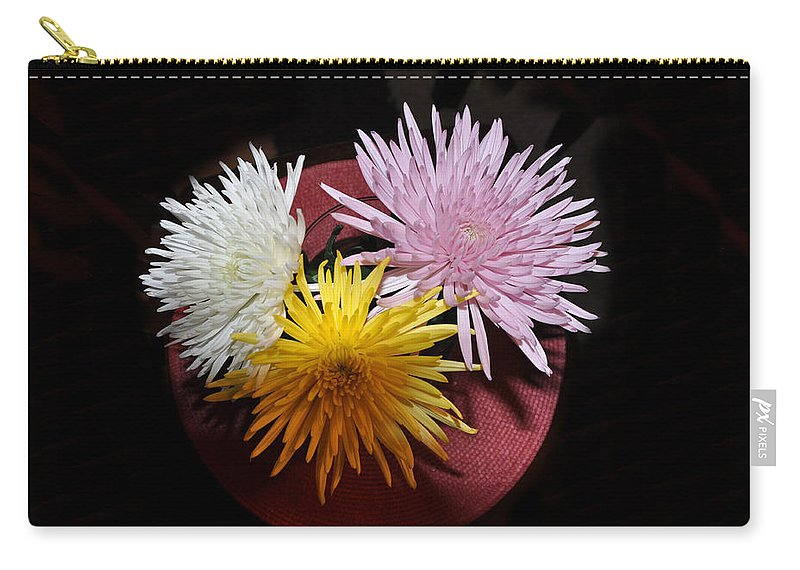 Floral Carry-all Pouch featuring the photograph Glow by Jan Amiss Photography