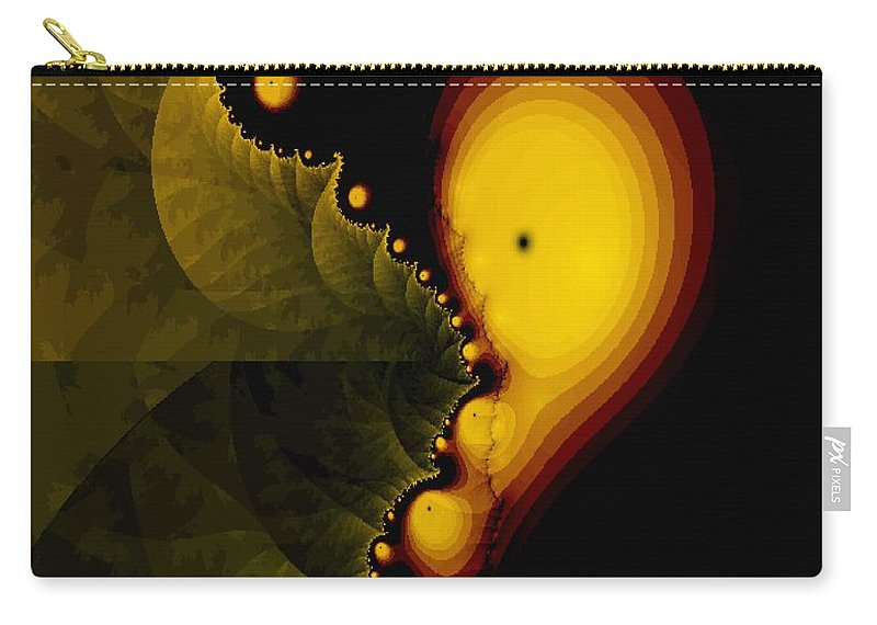Unique Carry-all Pouch featuring the digital art Glow Worm by Gina Lee Manley