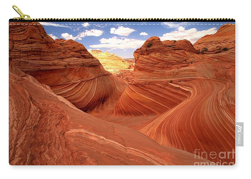 The Wave Carry-all Pouch featuring the photograph Glowing Butte At The Wave by Adam Jewell