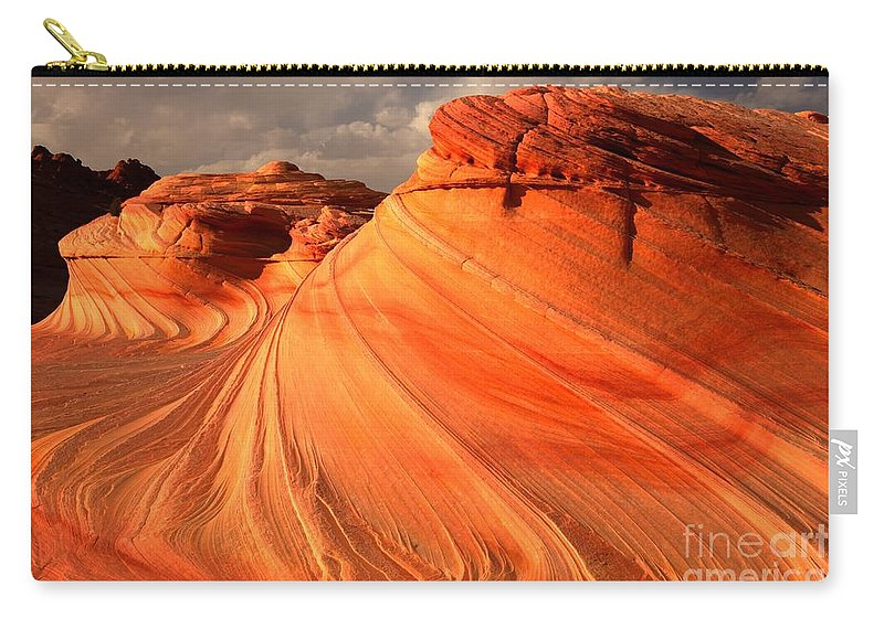 The Wave Carry-all Pouch featuring the photograph Glowing Desert Dragon by Adam Jewell