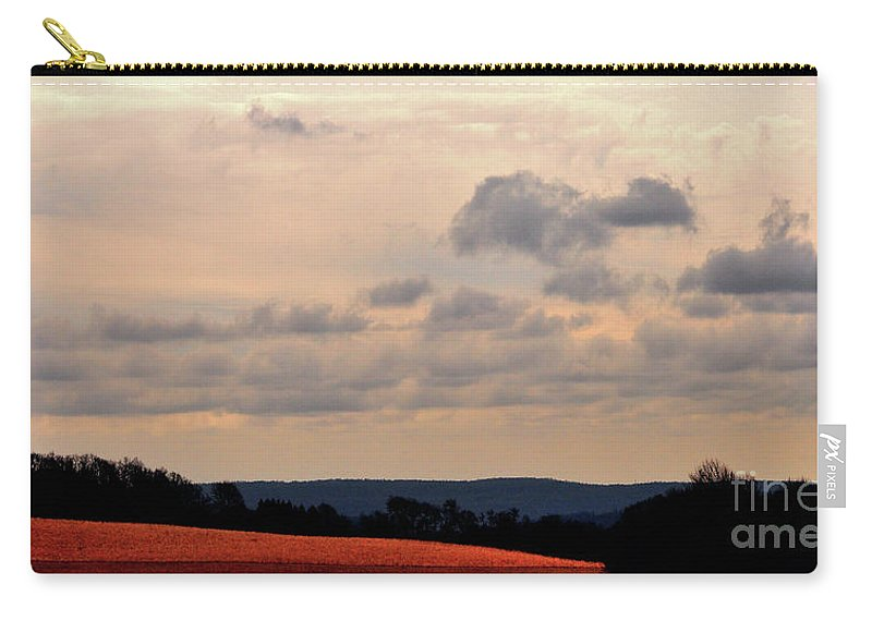 Landscape Carry-all Pouch featuring the photograph Glowing Field by Lori Tambakis