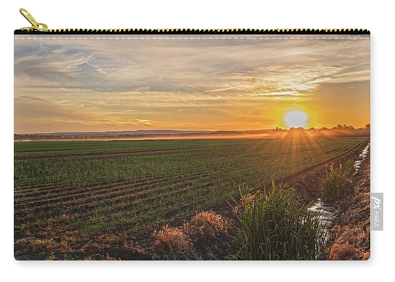 Pine Island Carry-all Pouch featuring the photograph Glowing Fields Of Pine Island by Angelo Marcialis Melody Of Light Photography