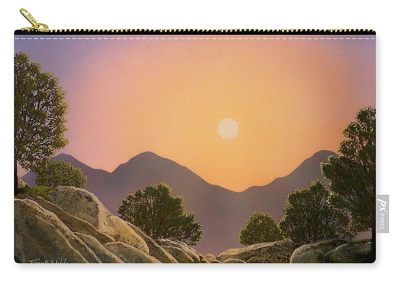 Mountains Carry-all Pouch featuring the painting Glowing Landscape by Frank Wilson