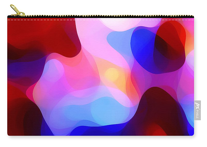 Abstract Painting Carry-all Pouch featuring the painting Glowing Light by Amy Vangsgard