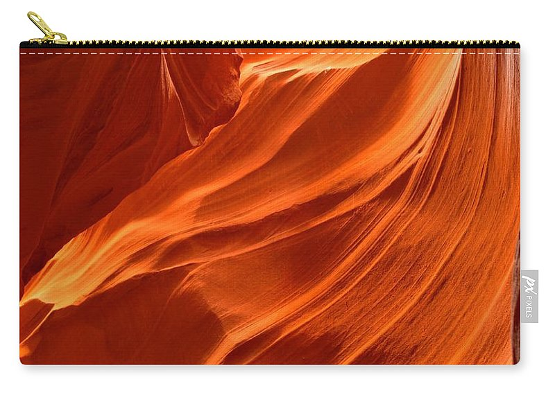 Abstract Carry-all Pouch featuring the photograph Glowing Sandstone Swirls by Adam Jewell