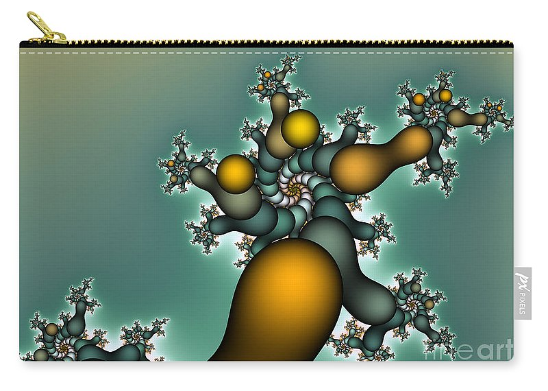 Fractal Carry-all Pouch featuring the digital art Gnarly Tree by Jutta Maria Pusl