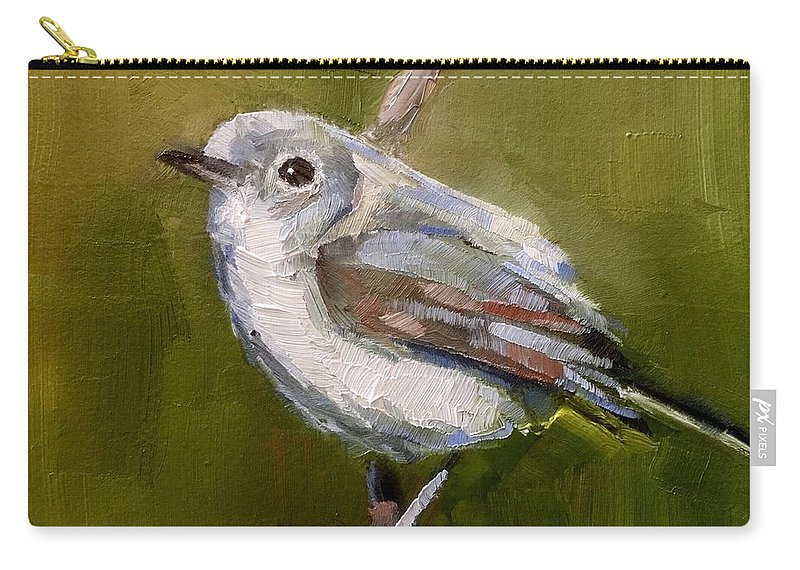 Bird Carry-all Pouch featuring the painting Gnatcatcher by Gary Bruton