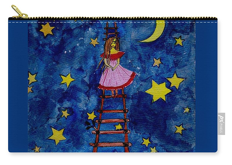 Sky Carry-all Pouch featuring the painting Go Down by Sweeping Girl