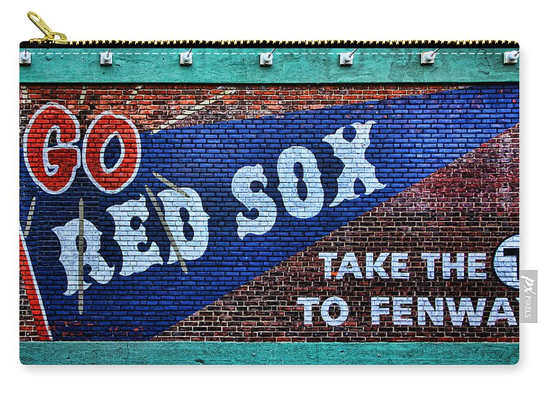 Red Sox Carry-all Pouch featuring the photograph Go Red Sox by Stephen Stookey