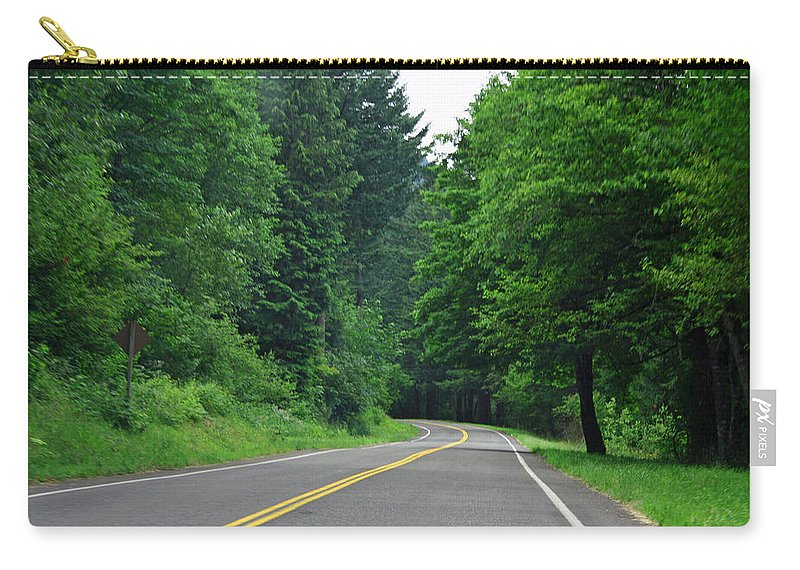 Road Carry-all Pouch featuring the photograph Go Where It Takes Us by Ben Zell