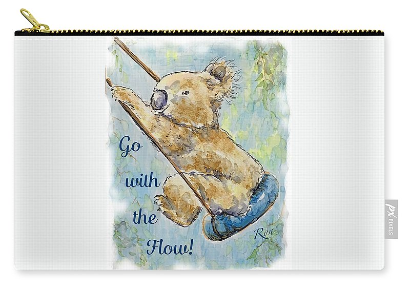 Go Carry-all Pouch featuring the painting Go With The Flow by Ryn Shell