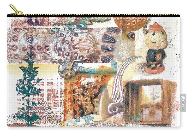 Abstract Carry-all Pouch featuring the painting Go With The Flow by Valerie Meotti