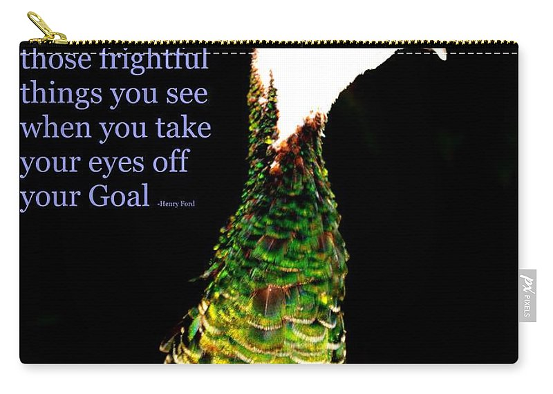 Goals Carry-all Pouch featuring the photograph Goals by Lisa Renee Ludlum