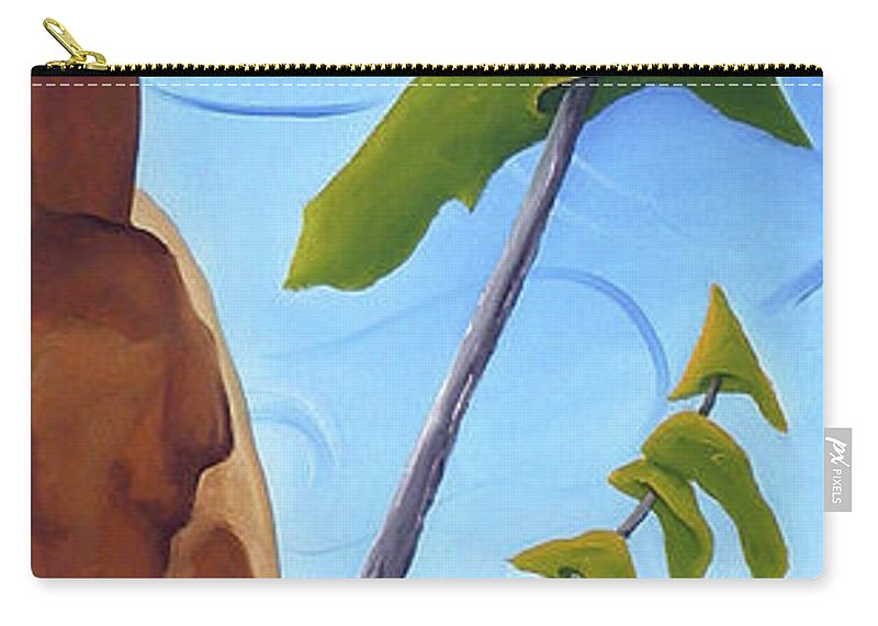 Landscape Carry-all Pouch featuring the painting Goals by Richard Hoedl