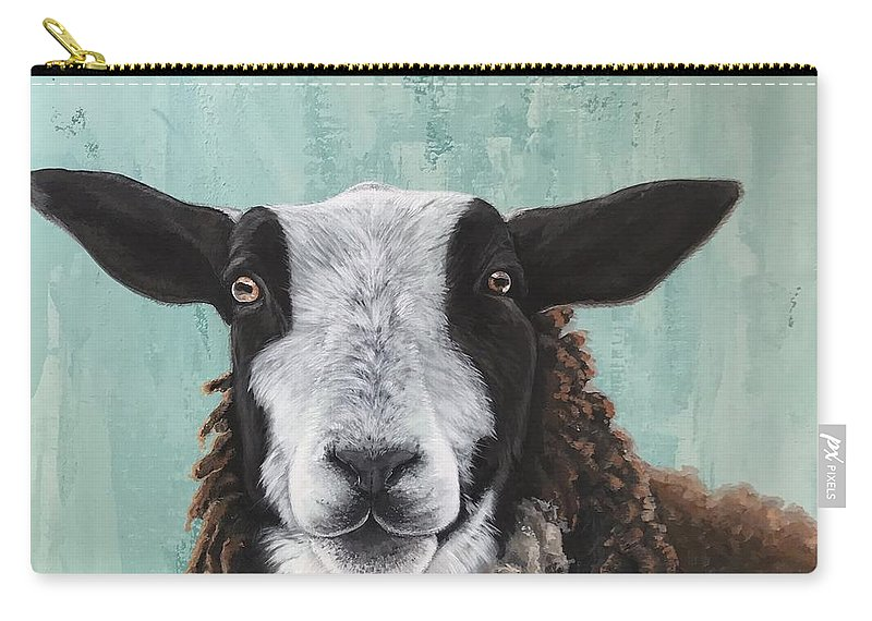 Goat Carry-all Pouch featuring the painting Goat Tee by Suzanne Rende