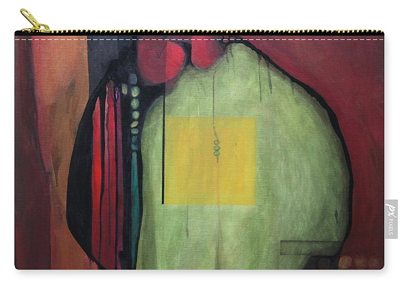 Abstract Carry-all Pouch featuring the painting Gobs by Marlene Burns
