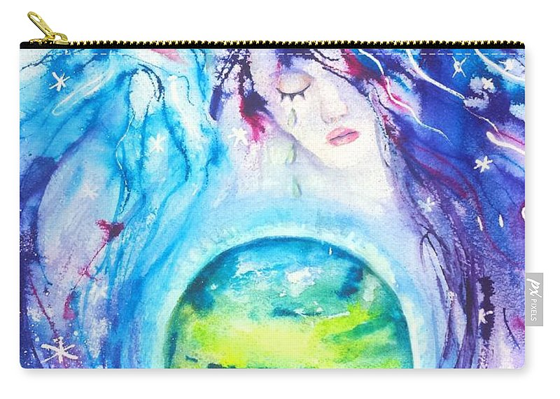 God Goddess Earth Ripple Effect Carry All Pouch