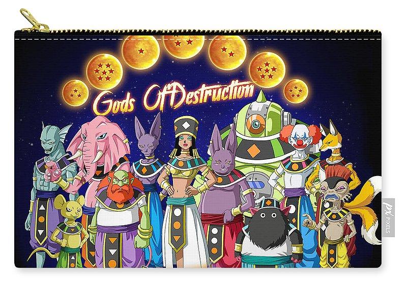 Goku New Form Carry-all Pouch featuring the digital art God Of Destruction by Babbal Kumar