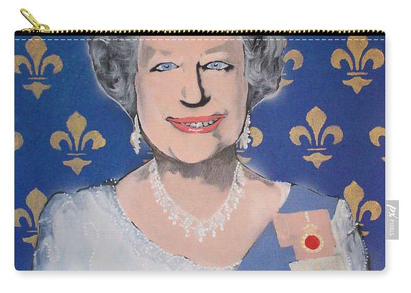 Queen Elizabeth Carry-all Pouch featuring the painting God Save The Queen by Gary Hogben