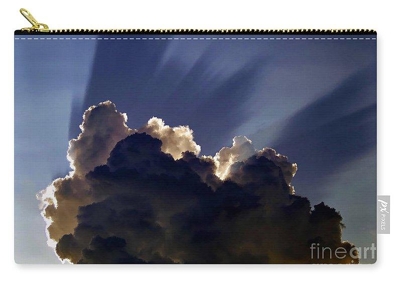 God Carry-all Pouch featuring the painting God Speaking by David Lee Thompson