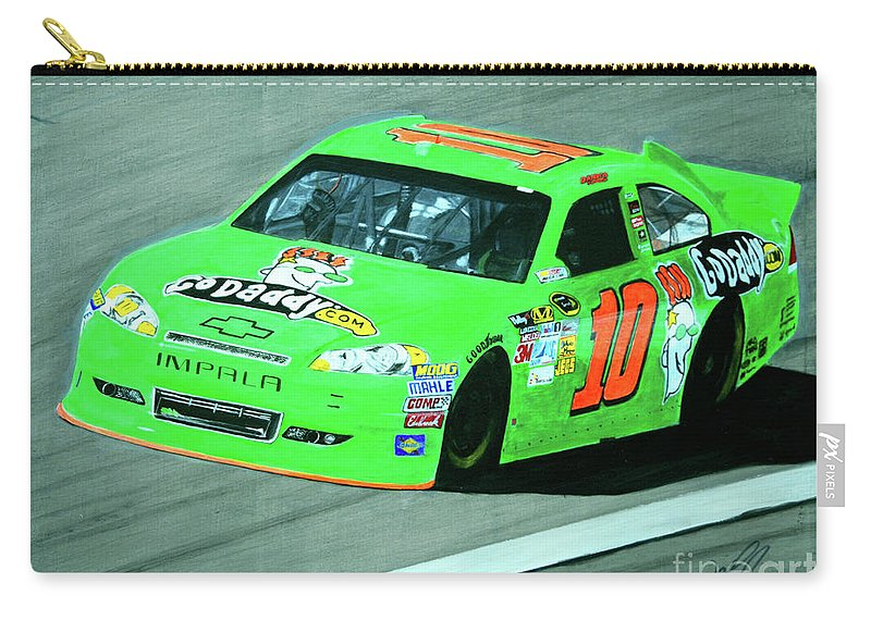 Danica Patrick Carry-all Pouch featuring the painting Godanica by William Homeier