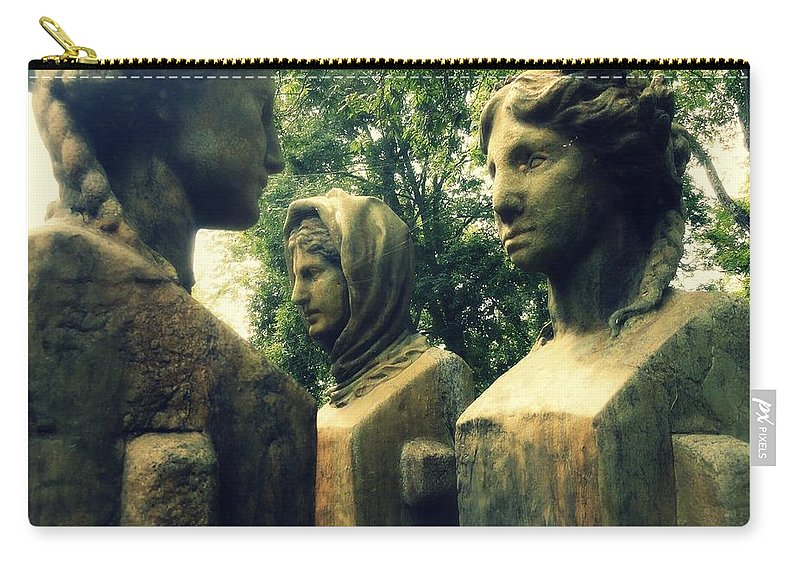 Powerful Carry-all Pouch featuring the photograph Goddess Statues by Lisa Victoria Proulx