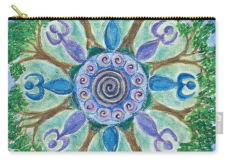 Goddess Carry-all Pouch featuring the painting Goddesses Dancing by Charlotte Backman