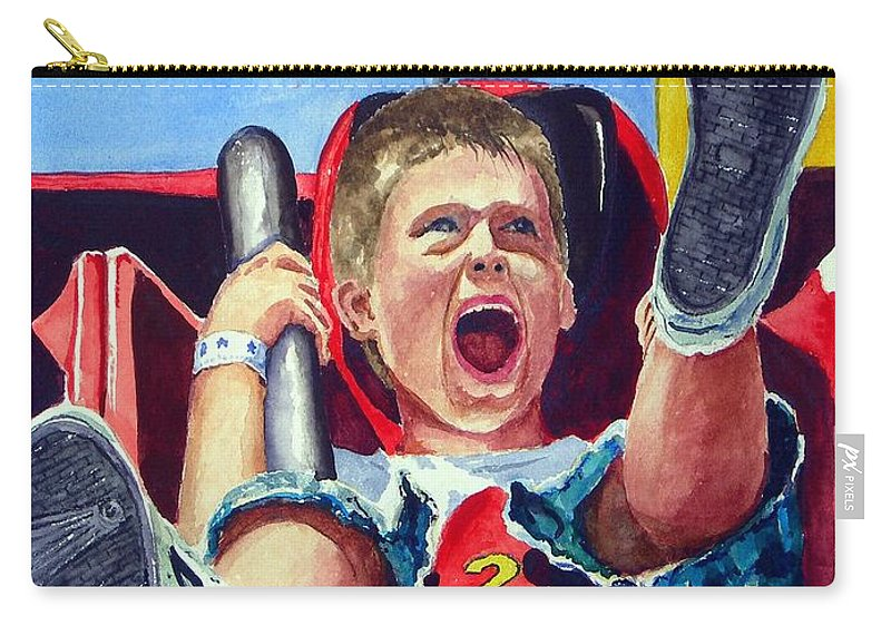 Boy Carry-all Pouch featuring the painting Goin' Down by Sam Sidders