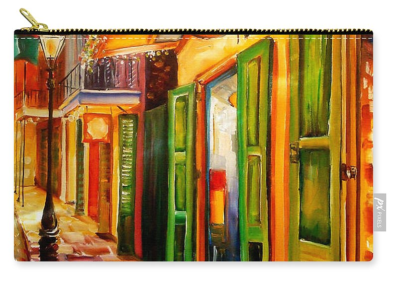 New Orleans Carry-all Pouch featuring the painting Going Back To New Orleans by Diane Millsap