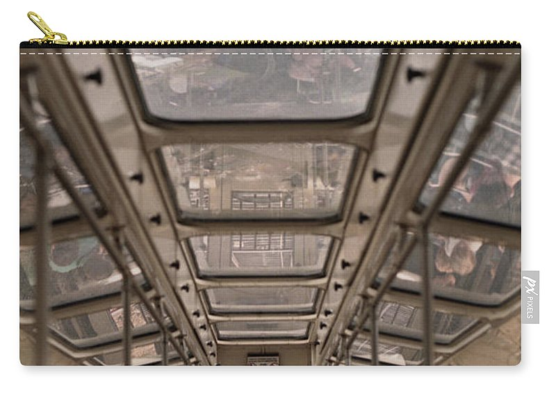 Cable Car Carry-all Pouch featuring the photograph Going Down by Richard Rizzo