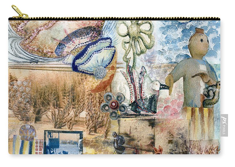 Fantasy Digital Art Carry-all Pouch featuring the painting Going Down by Valerie Meotti