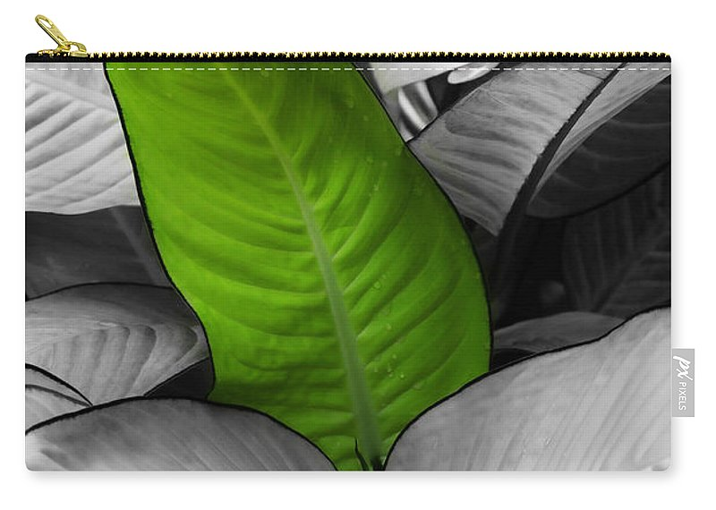 Leaf Carry-all Pouch featuring the photograph Going Green - Dreamy by Marilyn Hunt