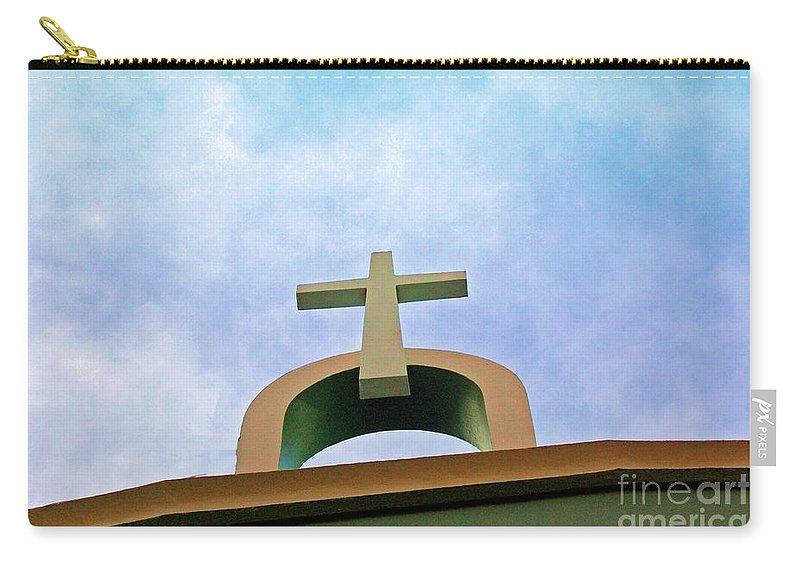 Cross Carry-all Pouch featuring the photograph Going Up by Debbi Granruth