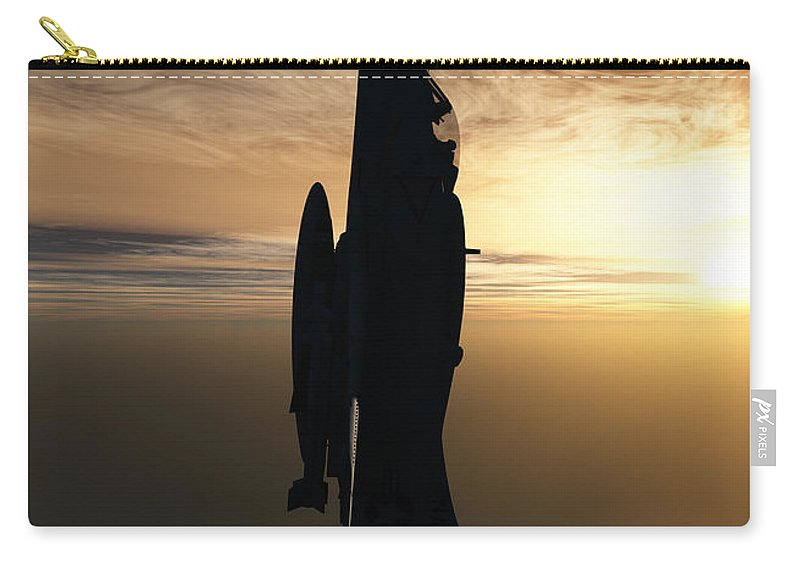 Aviation Carry-all Pouch featuring the digital art Going Vertical by Richard Rizzo