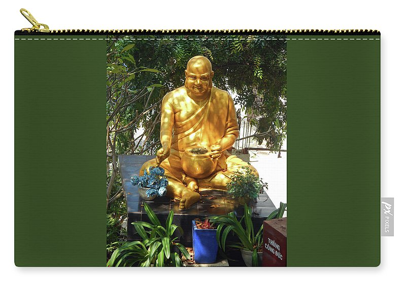 Phu My Carry-all Pouch featuring the photograph Gold Buddha 4 by Ron Kandt