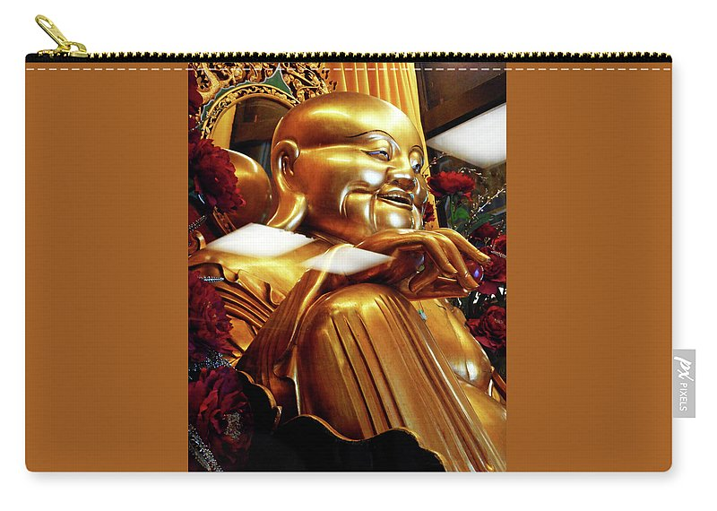 Phu My Carry-all Pouch featuring the photograph Gold Buddha 5 by Ron Kandt
