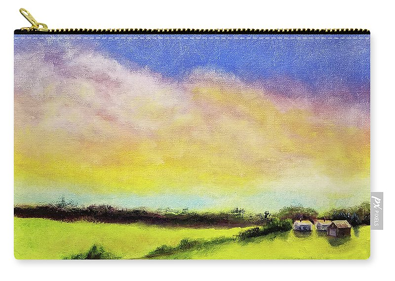 Cloud Carry-all Pouch featuring the painting Gold In The Bank by Susan Hanna